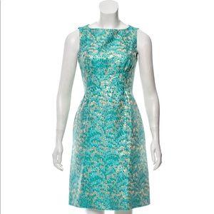 Michael Kors Embroidered Jacquard Sheath Dress